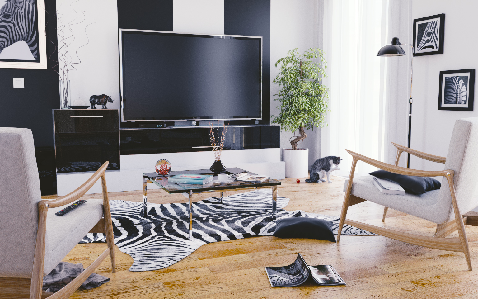 Zebra Living Room - Finished Projects - Blender Artists ...