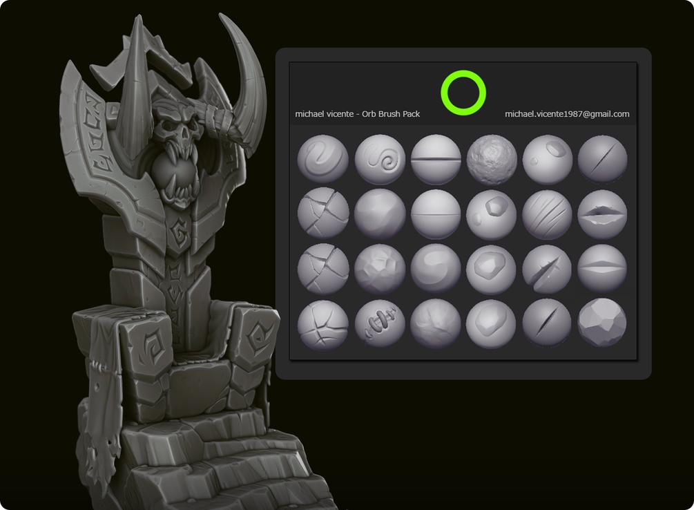 Zbrush Orb Brush pack for Blender 3D - Blender and CG Discussions