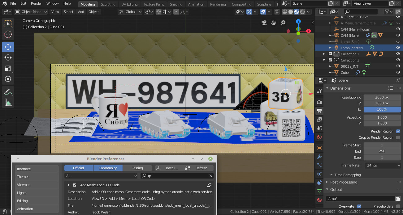 Local Barcode for Blender - Released Scripts and Themes