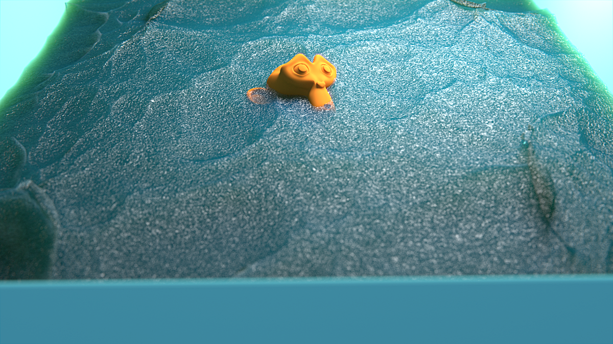 Realistic Water Shader - CYCLES volumes - Blender Tests