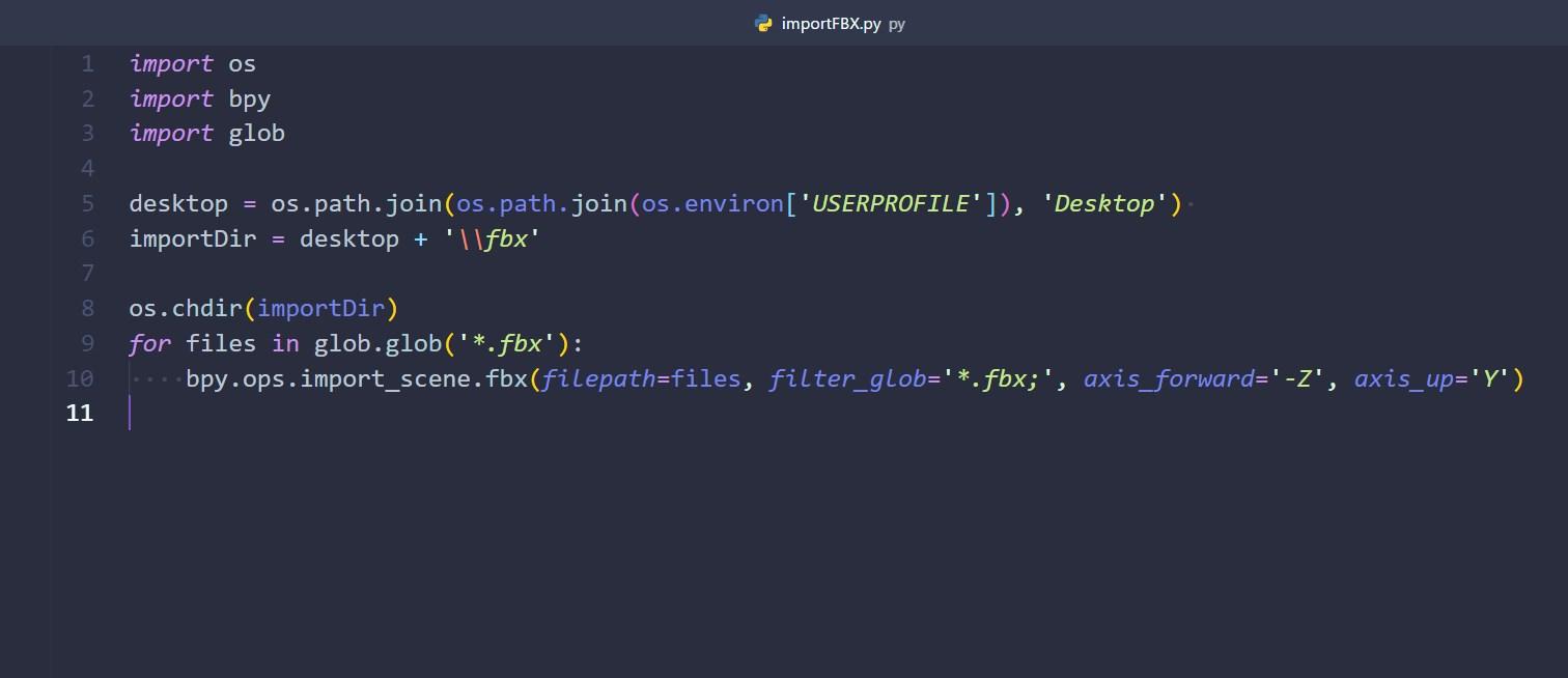 Import Multiple FBX files - Python Support - Blender Artists Community