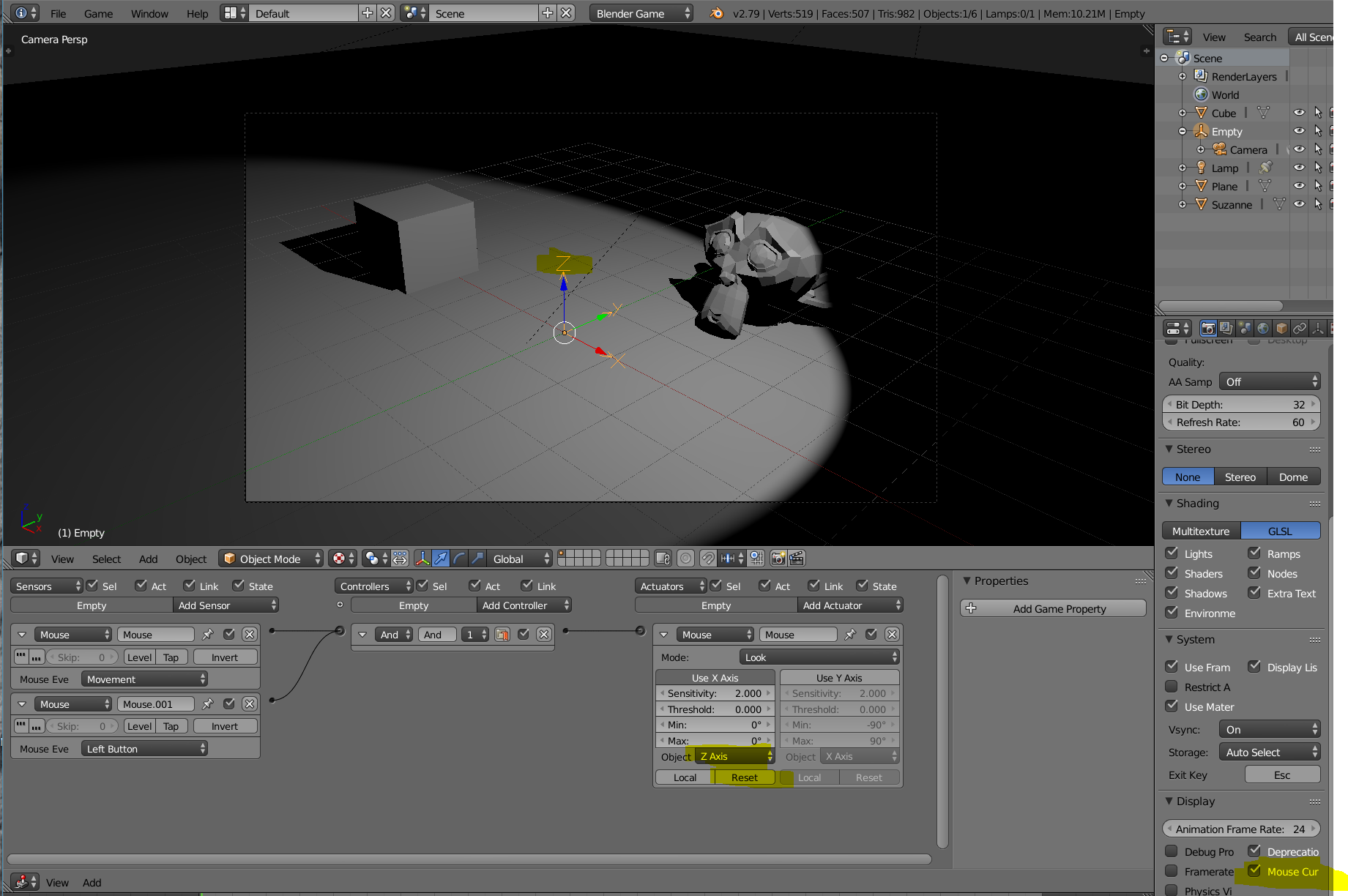 Showroom camera - mouse centering problem - Game Engine Support and