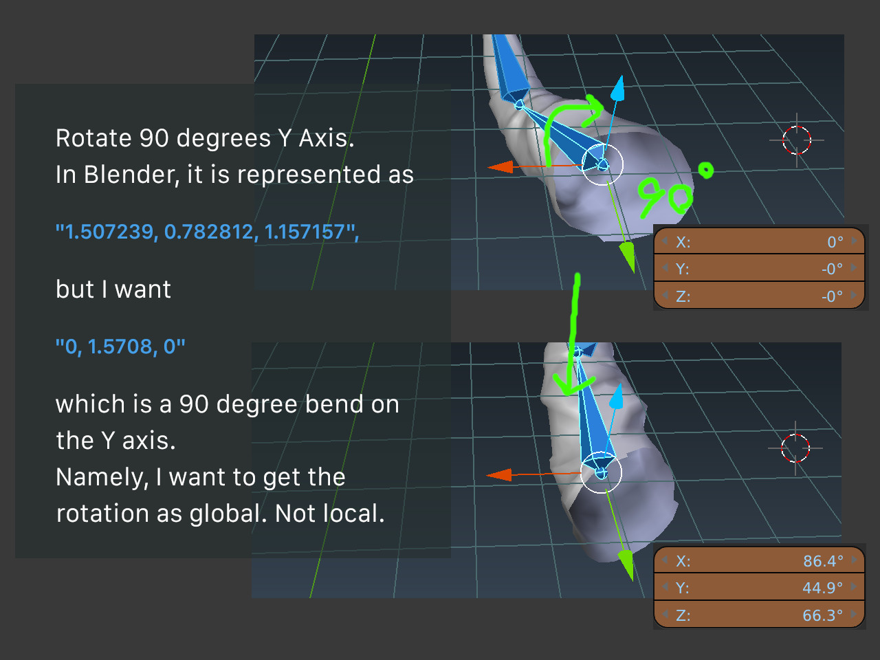 Can I get bone rotate on global axis? - Python Support - Blender