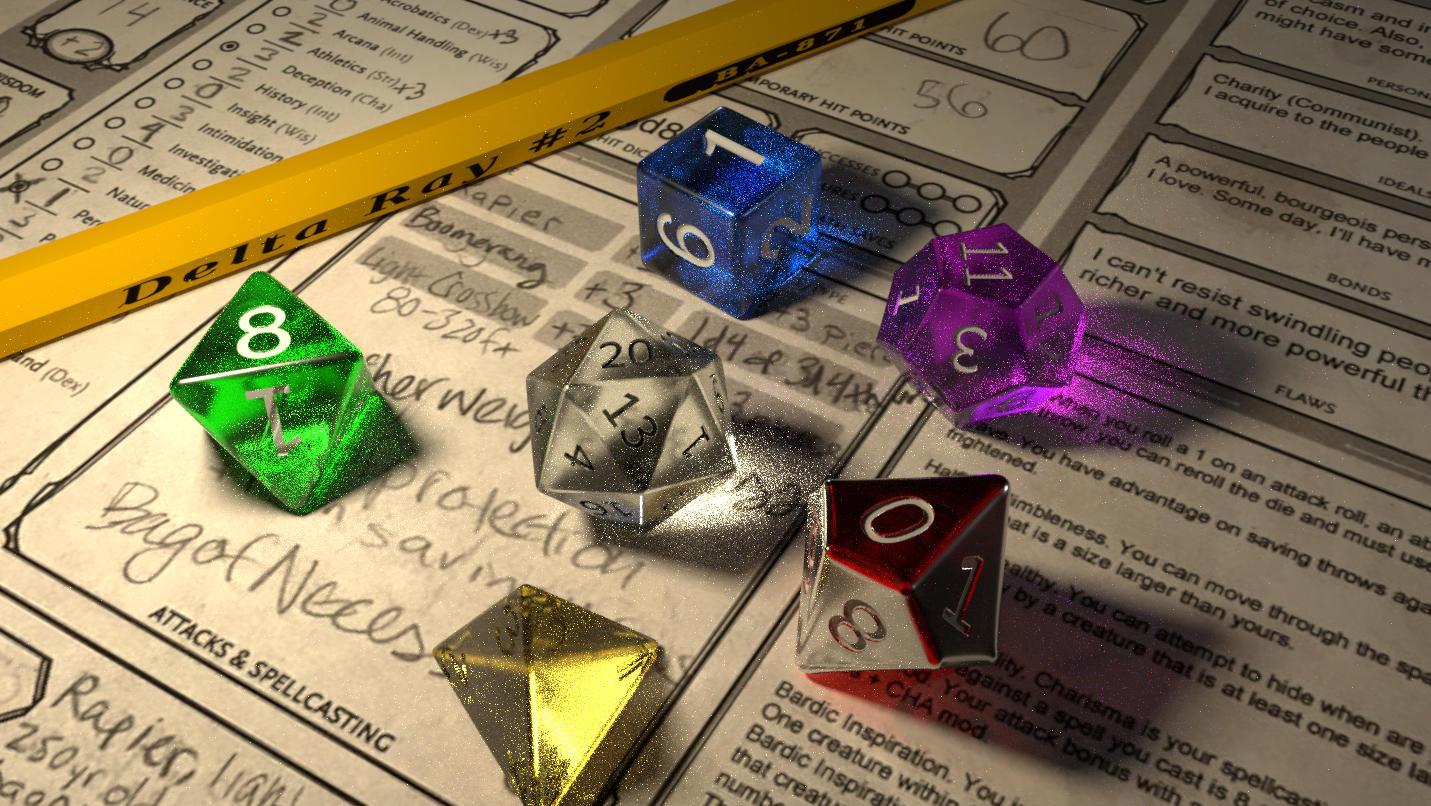 deltaray: Glowing dragon dice