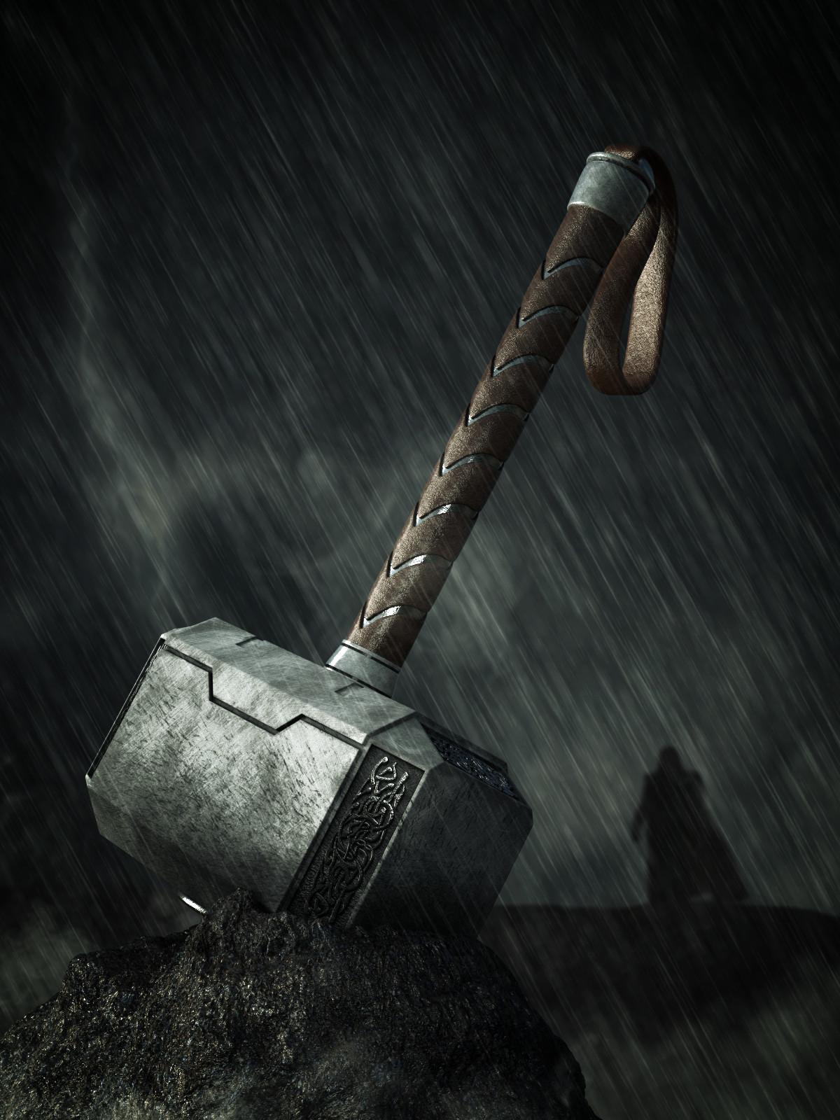 Mjolnir Thors Hammer Finished Projects Blender