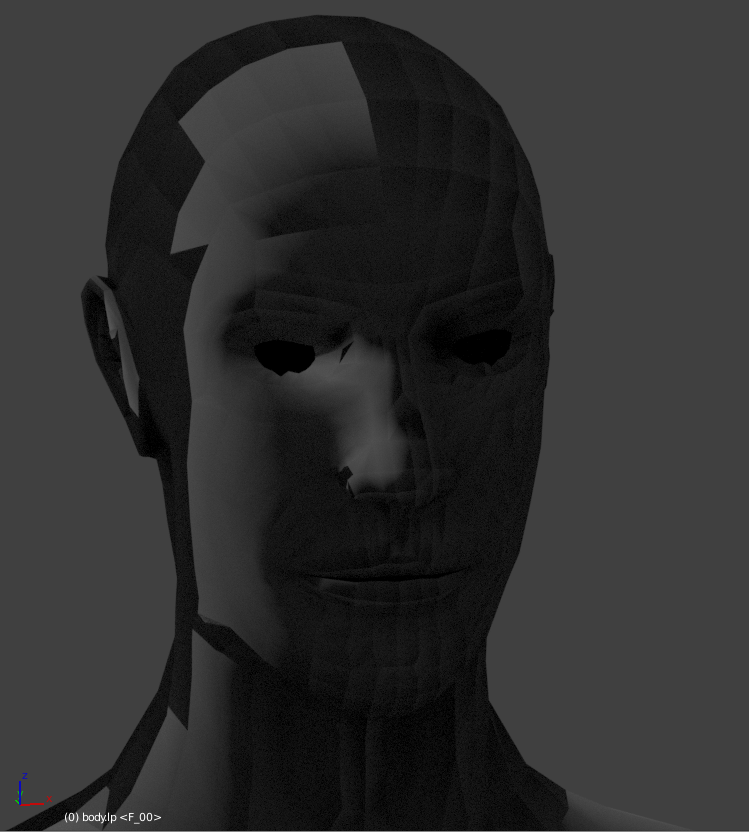 Low poly mesh bakes into itself? Edit: also really dark