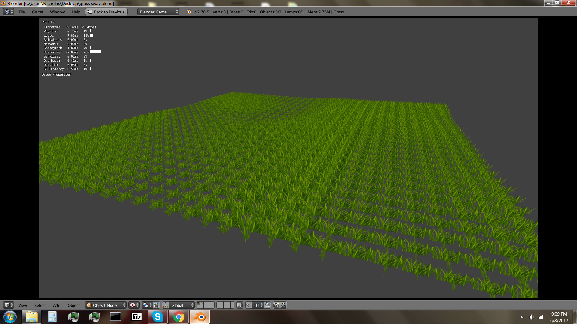 Grass swaying experiment - Works in Progress and Game Demos