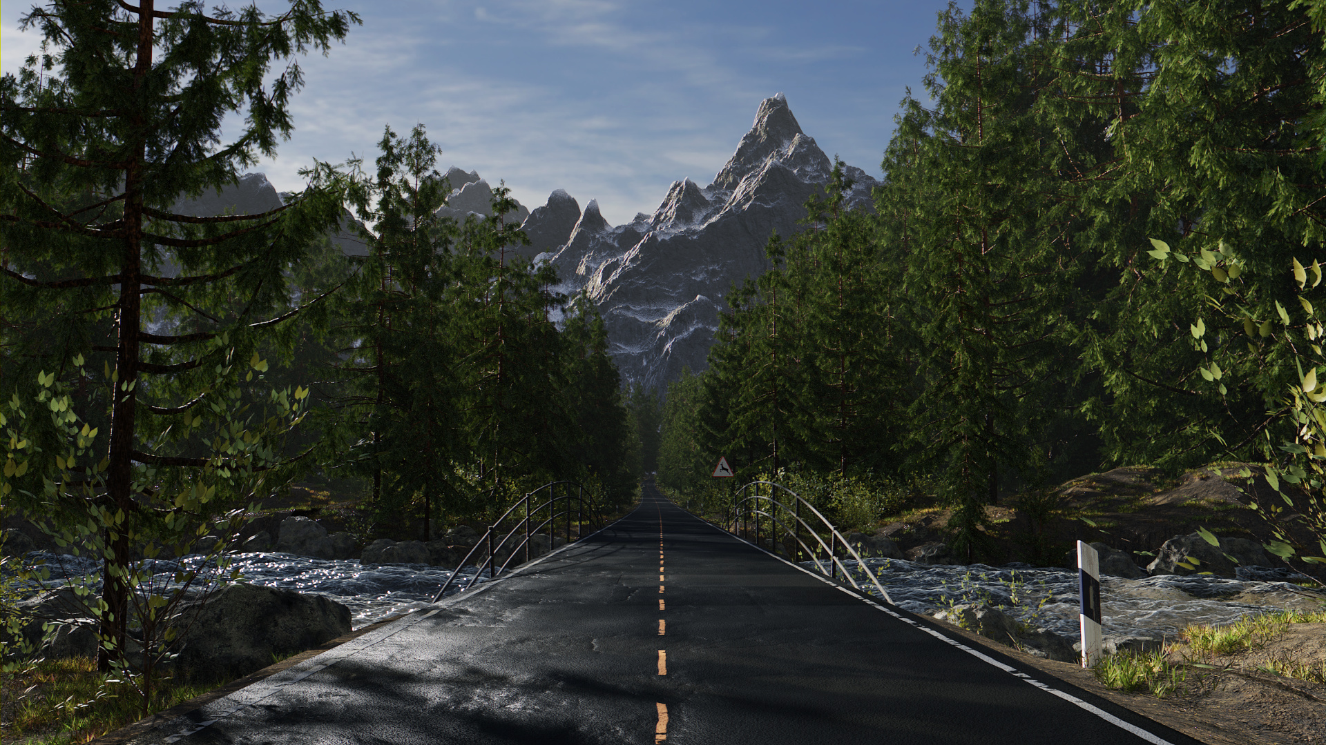 Forest Road Finished Projects Blender Artists Community