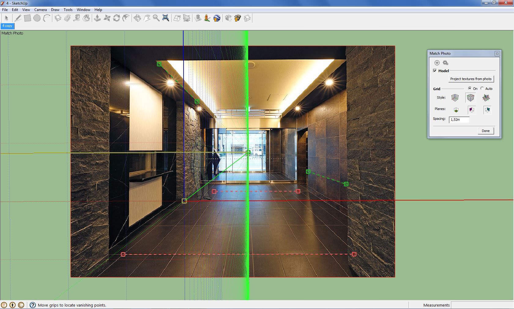 Sketchup photo match two point perspective