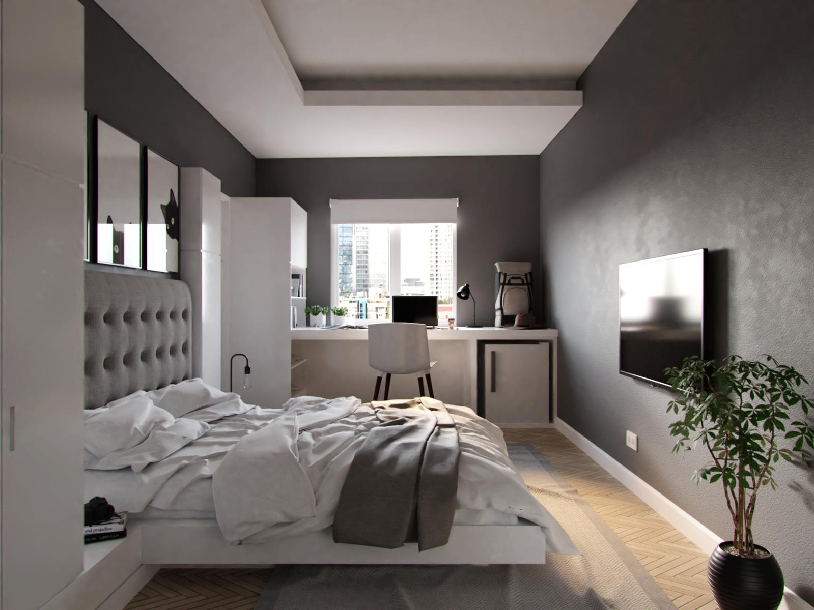White-Grey Bedroom - Forum Gallery - Blender Artists Community