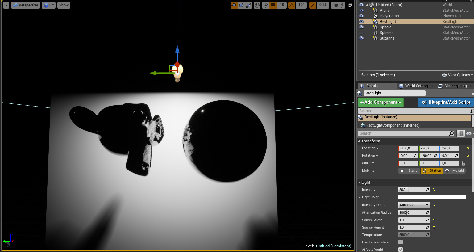 Unreal Rect Light vs  Eevee Area Light - Blender 2 8 - Blender