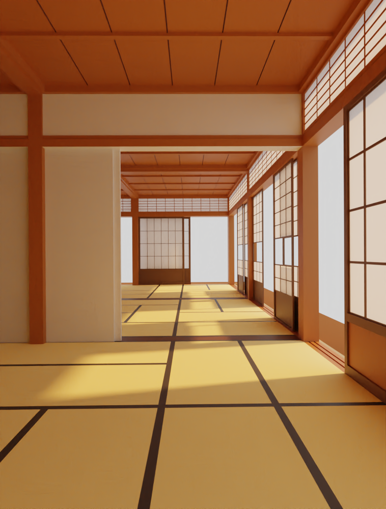 Japanese Zen interior - Finished Projects - Blender Artists
