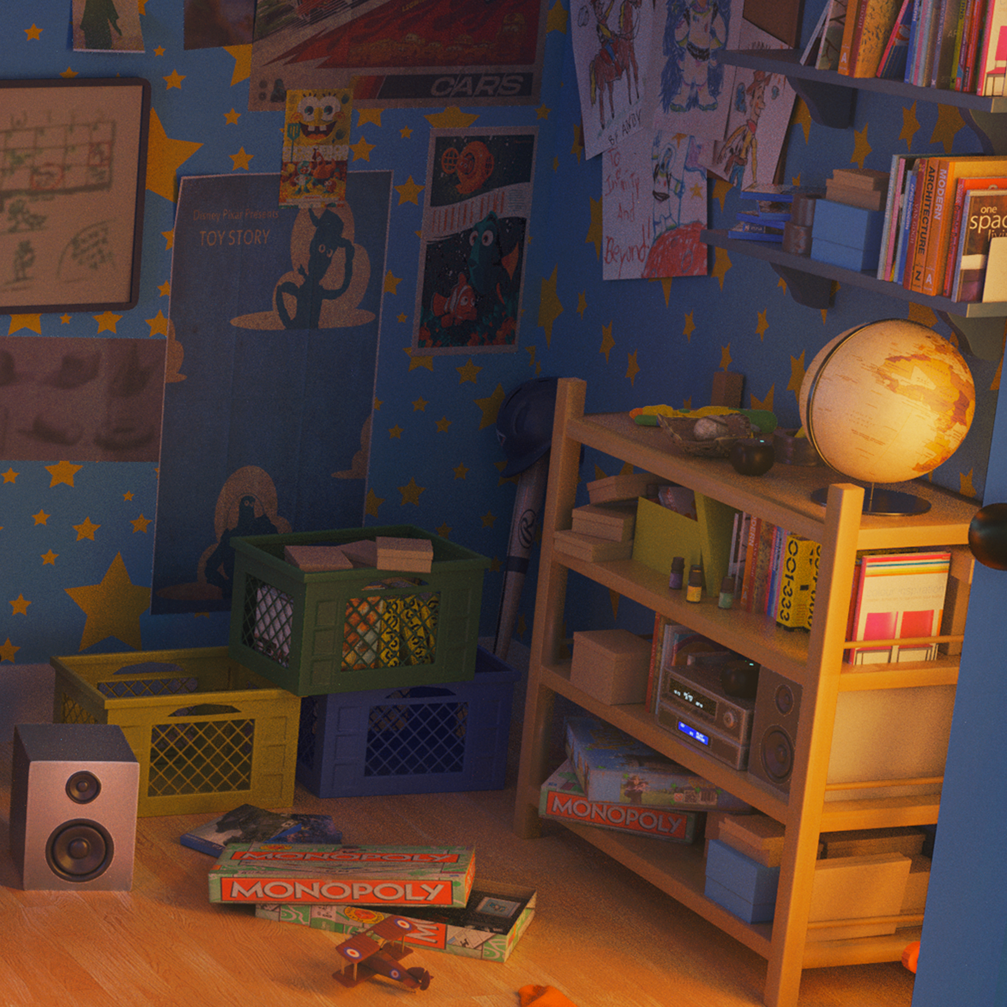 Toy Story Andy S Room Finished Projects Blender Artists Community
