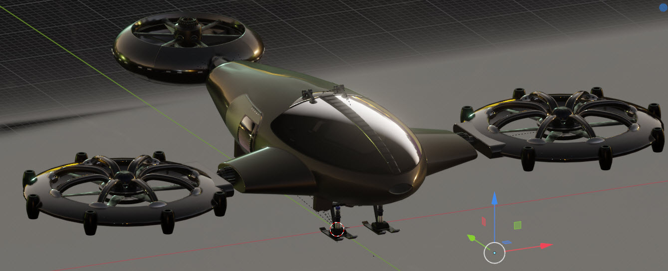 New Helicopter with landing gear
