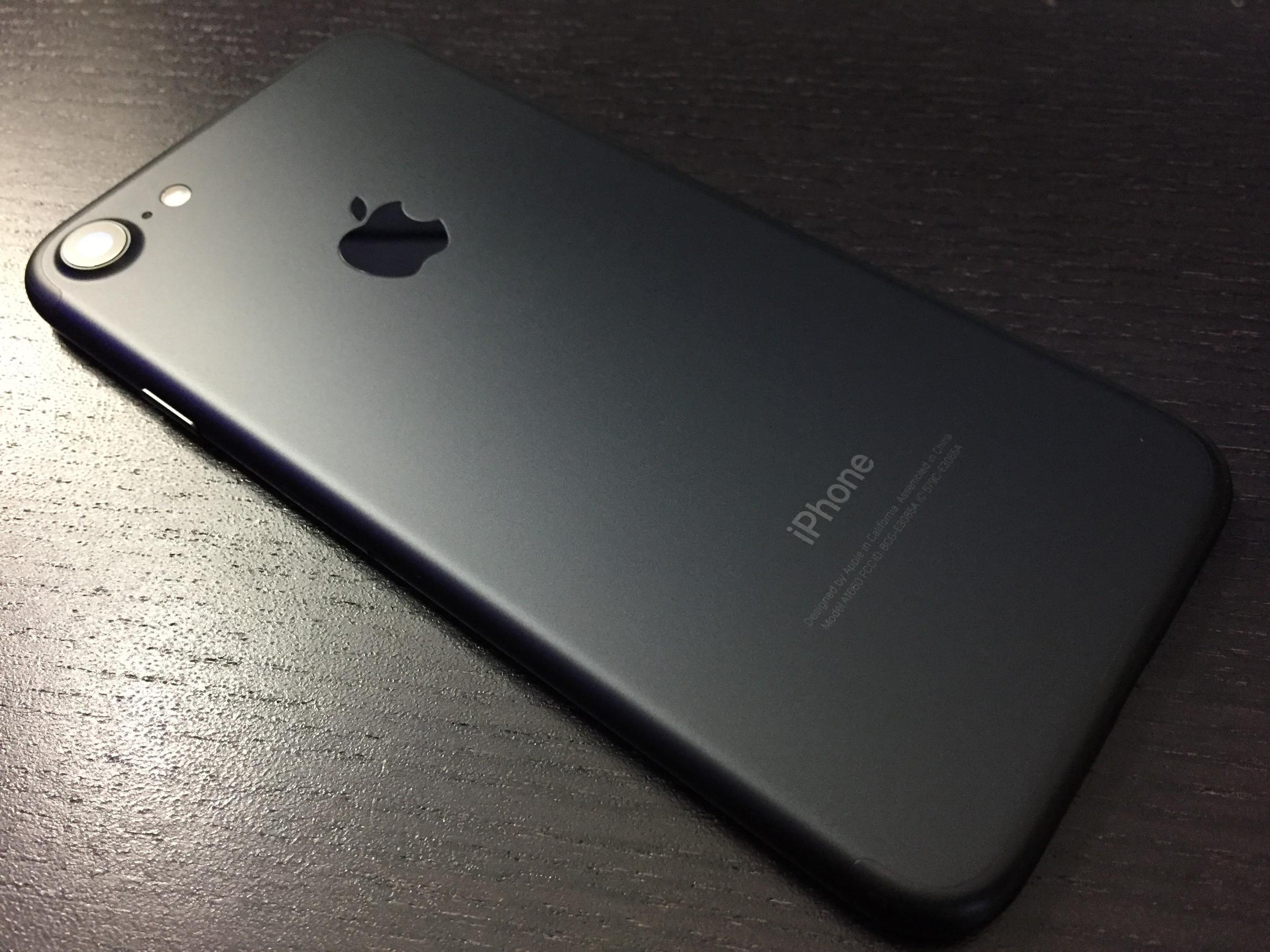 iPhone 7 Matte Black surface finish  - Materials and