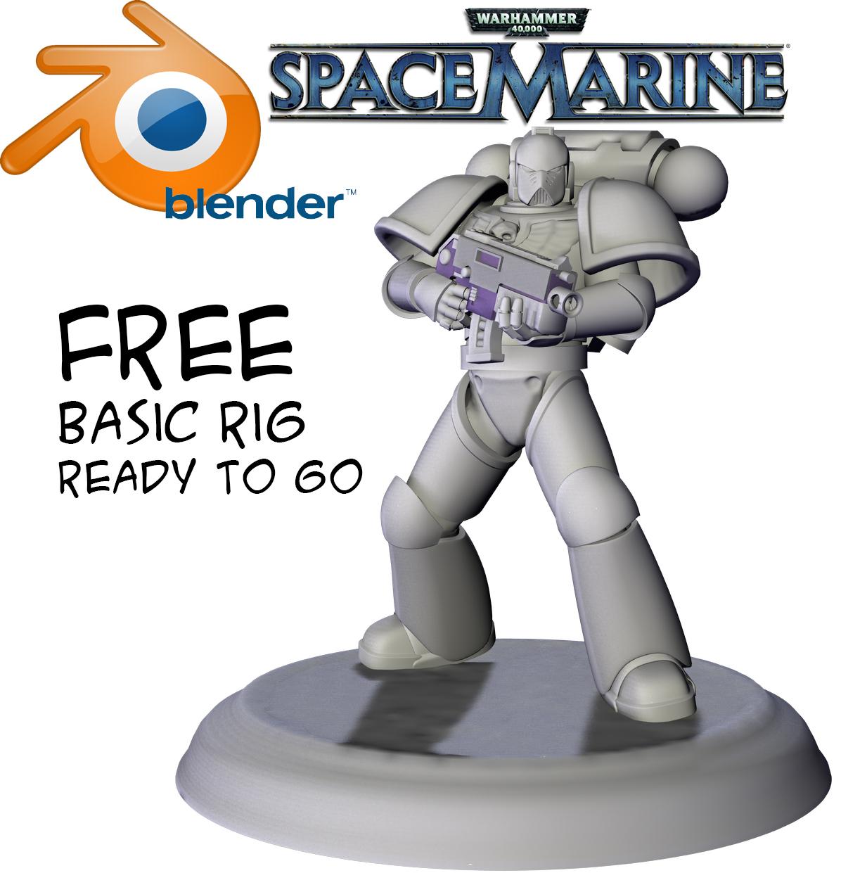 Free Blender Based SpaceMarine (free model download) - Works in