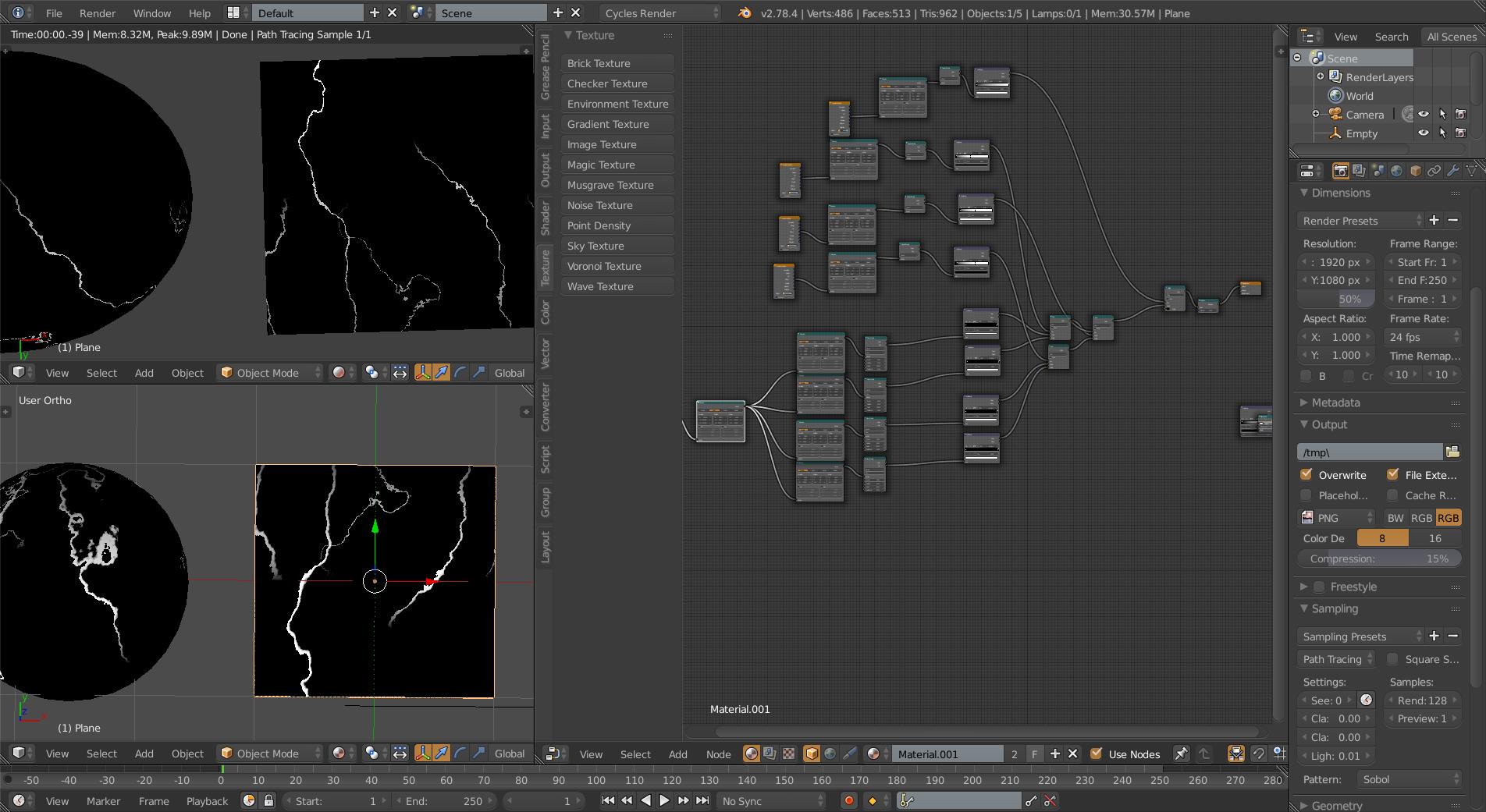 creating procedural cracks - Materials and Textures