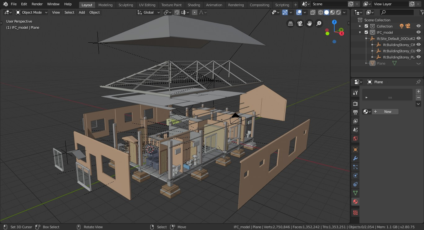 How import IFC into Blender without add-on - Tutorials, Tips