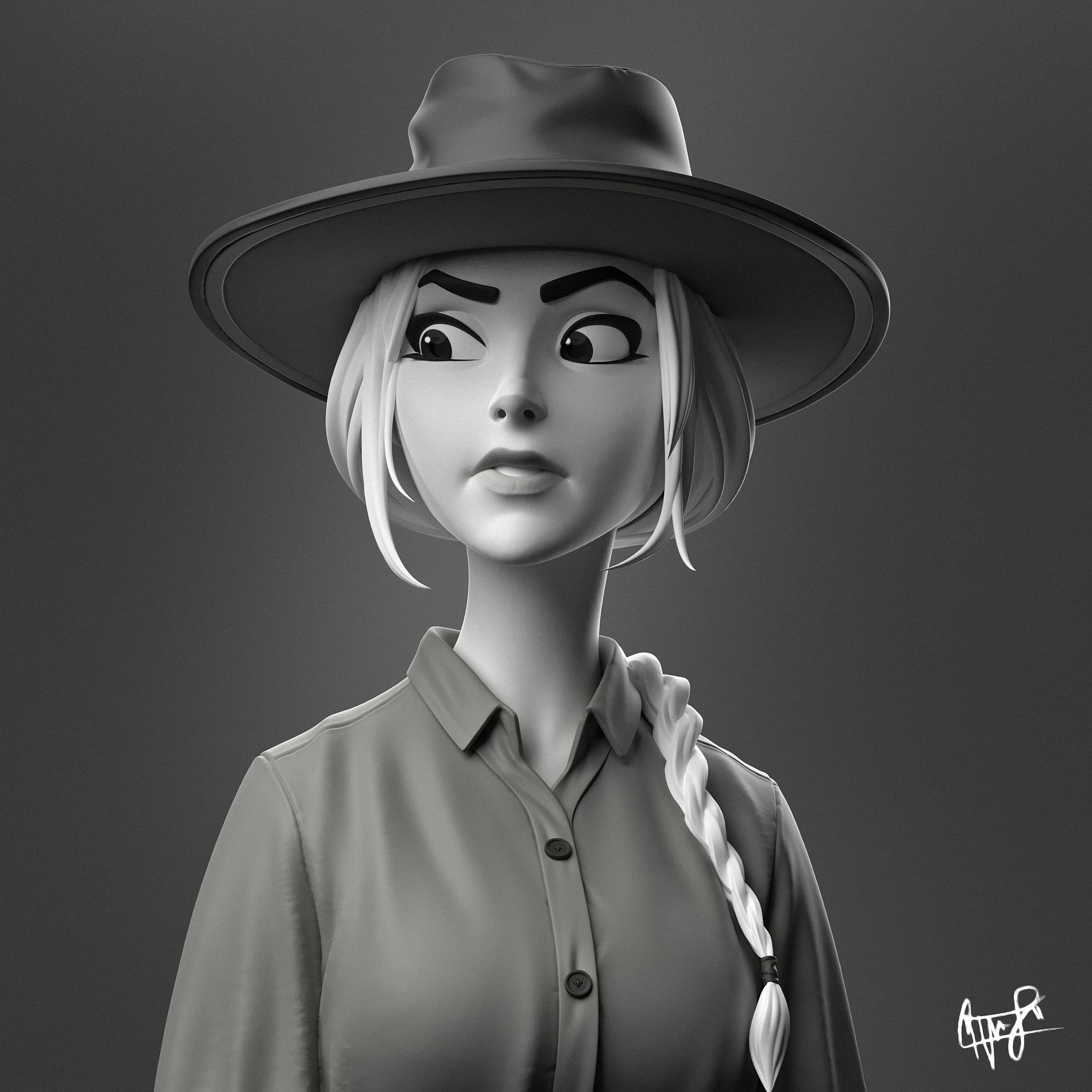 Cowgirl Sculpture Timelapse