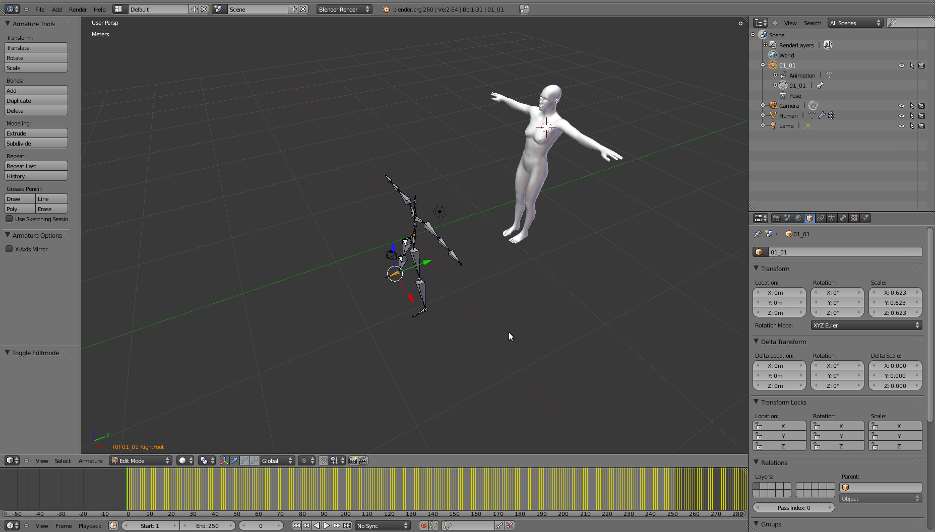 bvh set parent with automatic weights issue in blender