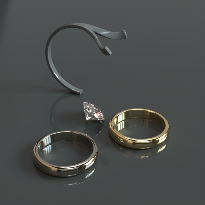 Rings - Prorender - Curved