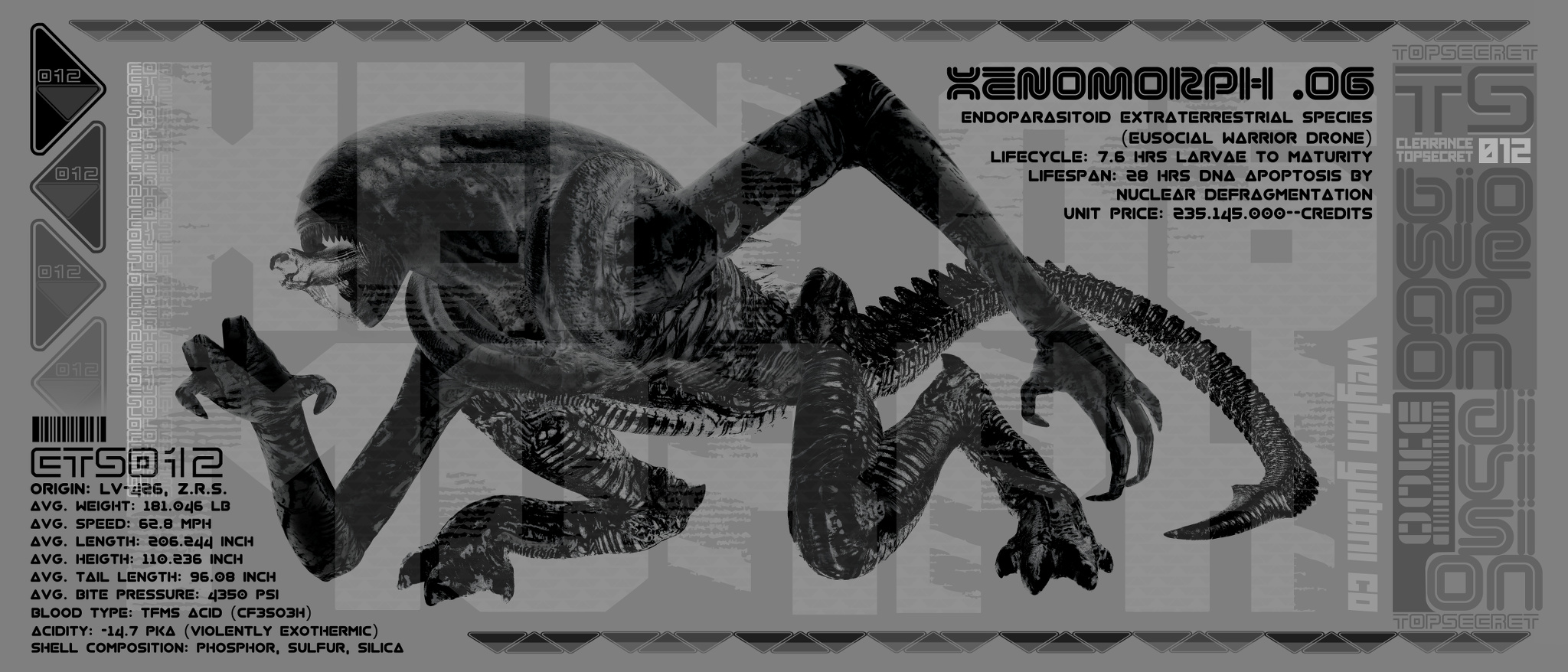 alien xenomorph wyco promo - Finished Projects - Blender