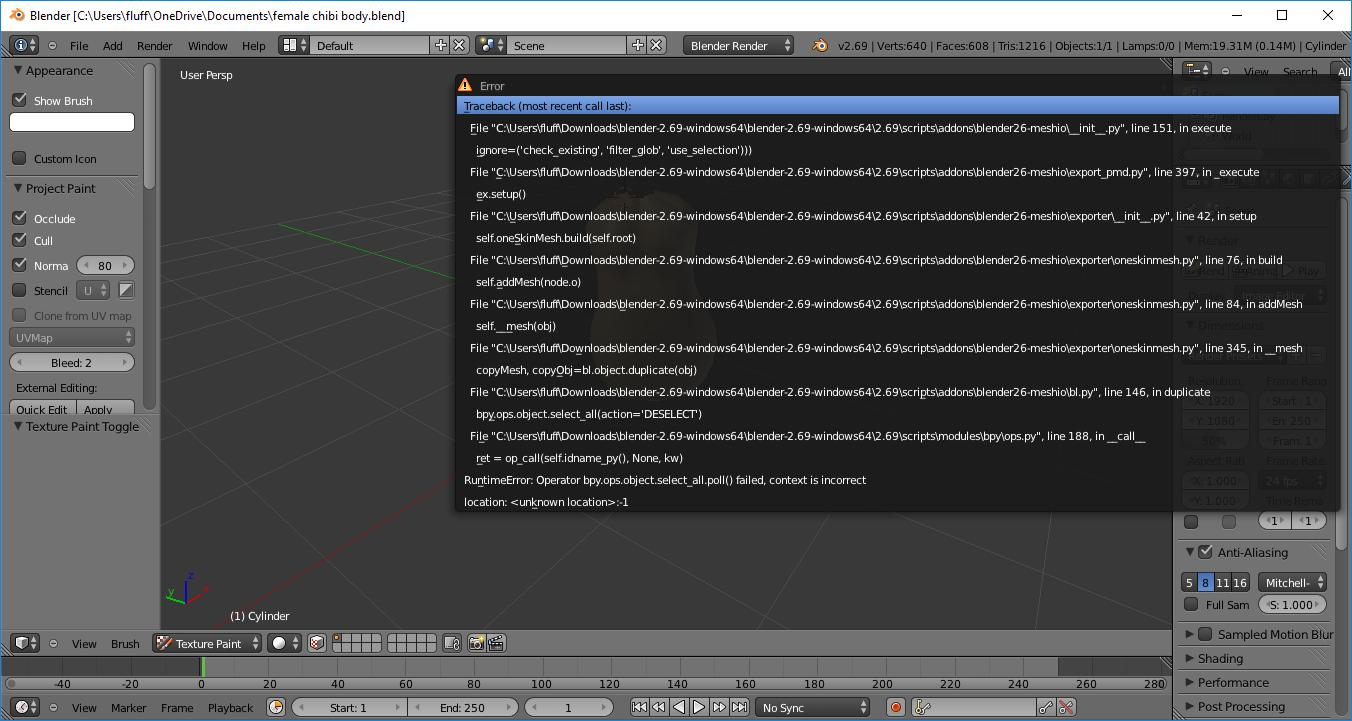 MMD plugin error message - Technical Support - Blender