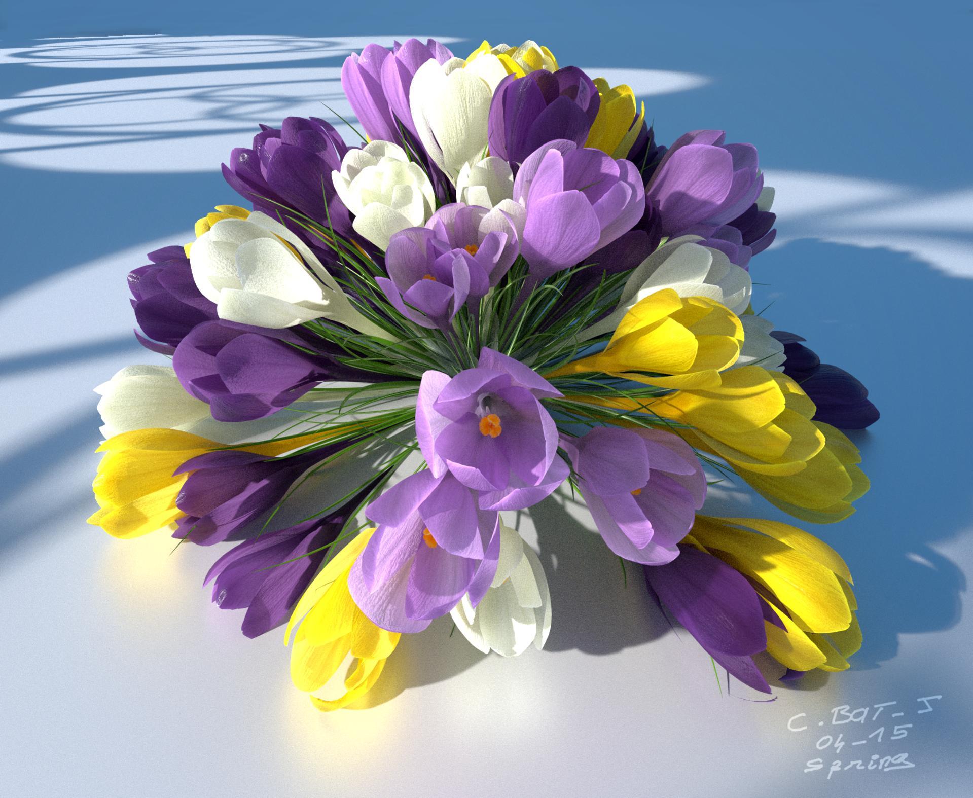 a touch of spring: 3d flowers for blender - latest news - blender
