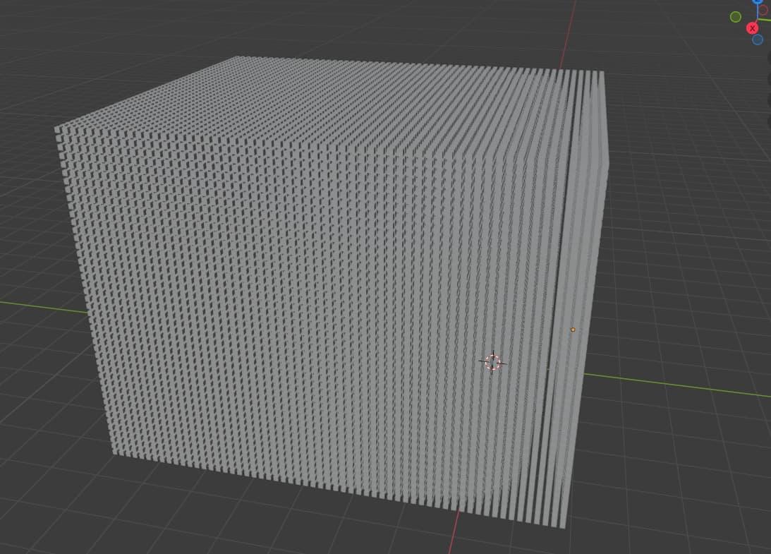 02 many many cubes