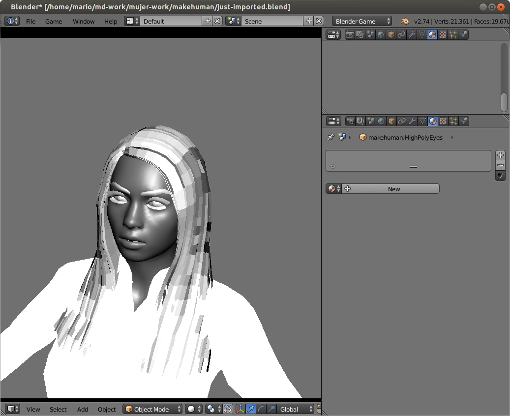 SOLVED]MakeHuman model faces rendering wrong in BGE  - Game