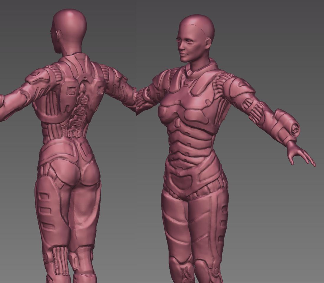 Female Armor Sculpt - Works in Progress - Blender Artists