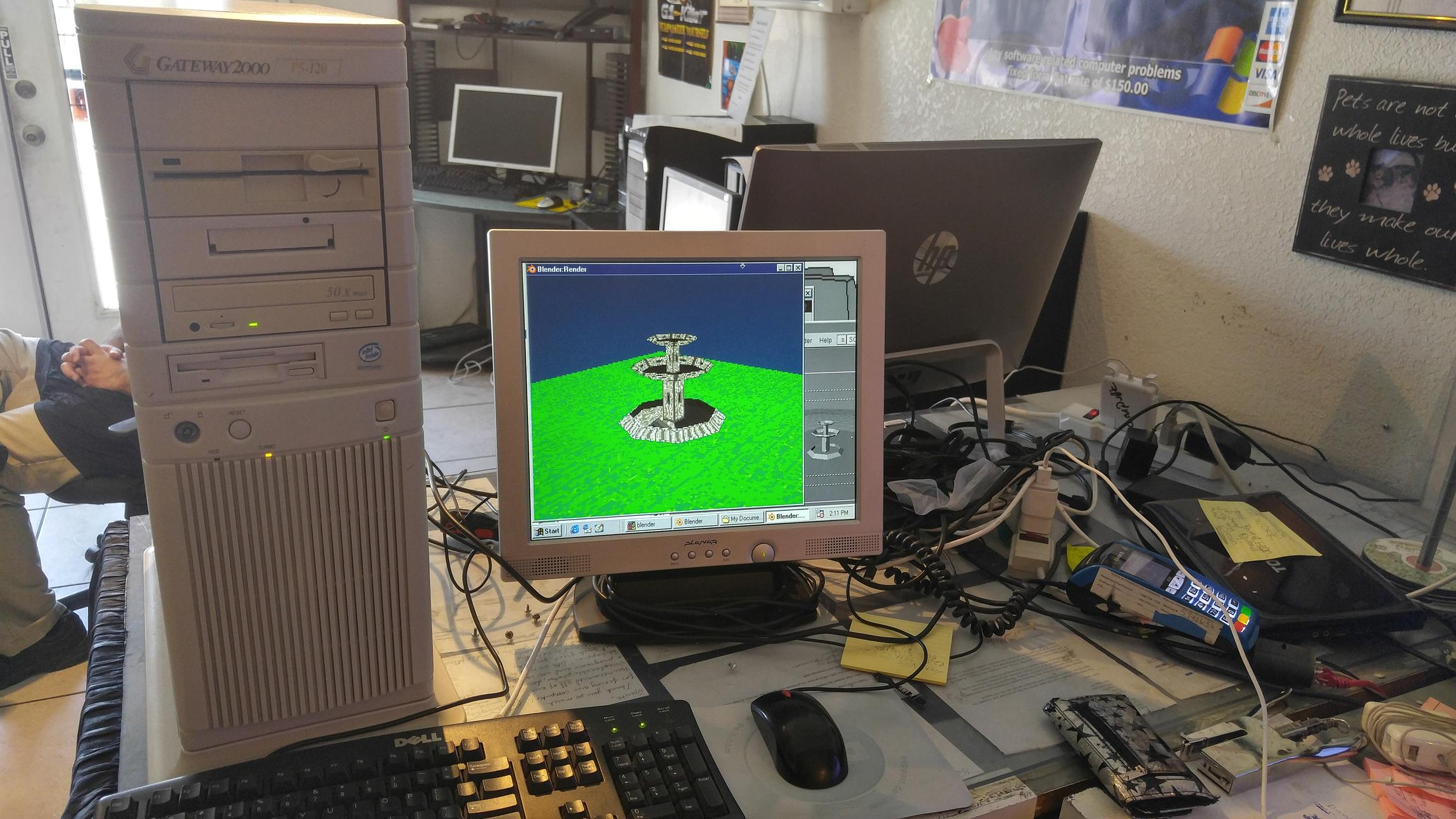 22 year old PC vs  Blender and 3D graphics - Blender Tests