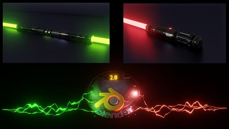 Lightsaber Udemy Skillshare Blender 2.8 Star Wars