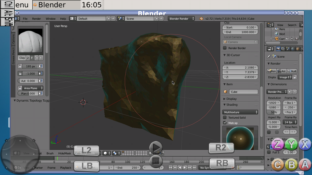 Running blender on android (No root required, not a port