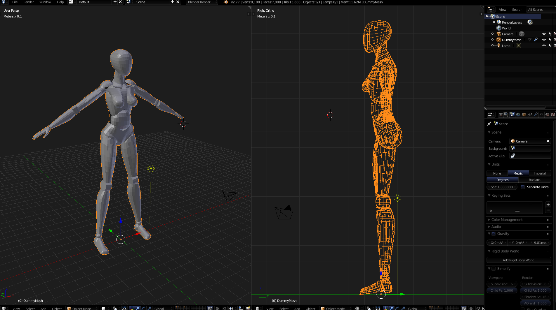 Anatomy proportions (need someone to check dummy model for errors ...