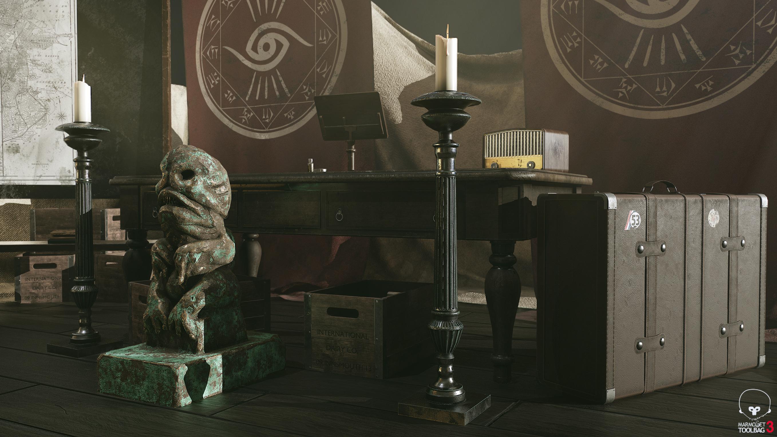 Game assets for UE4 scene (Esoteric order of dagon) - Works