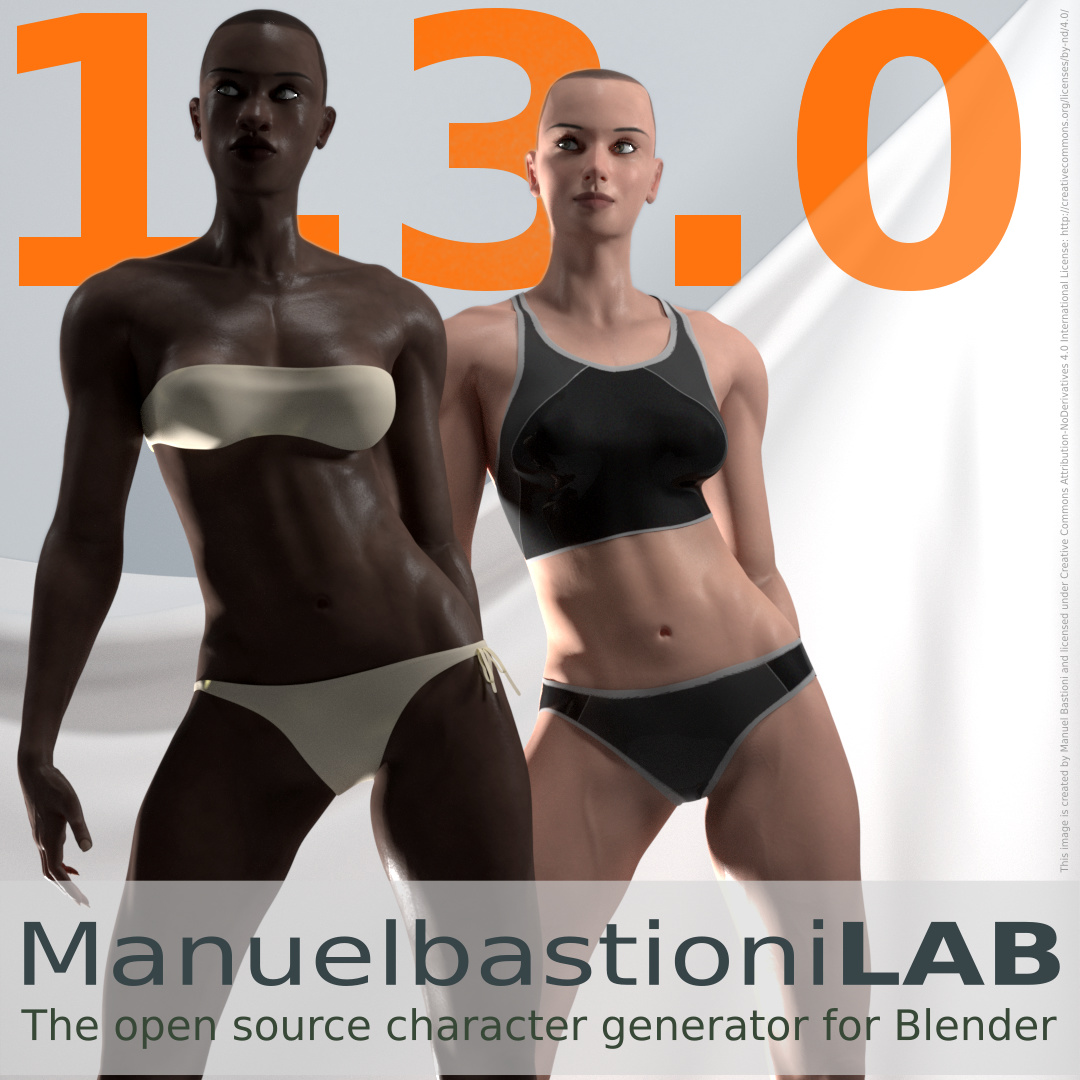ManuelbastioniLAB 1 3, the character editor for Blender
