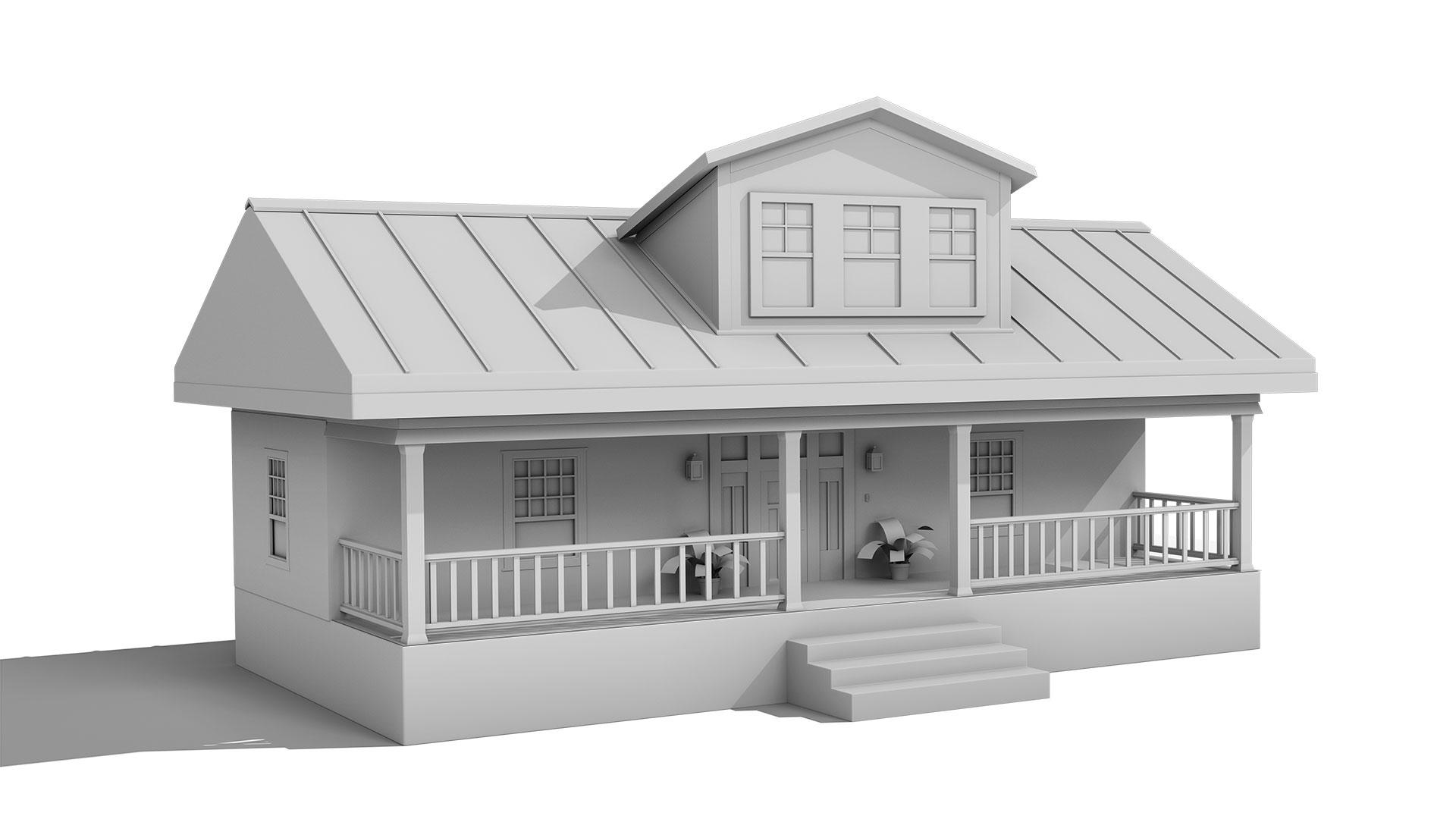 Blue Wooden House 3d Model Free Download 3d Model